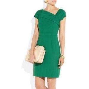 J. CREW Origami Wool Sheath Dress Green {M39}